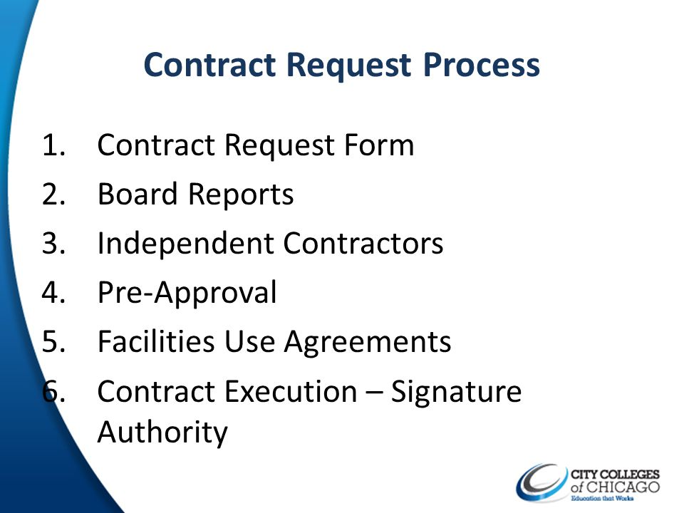 Contract Request Process