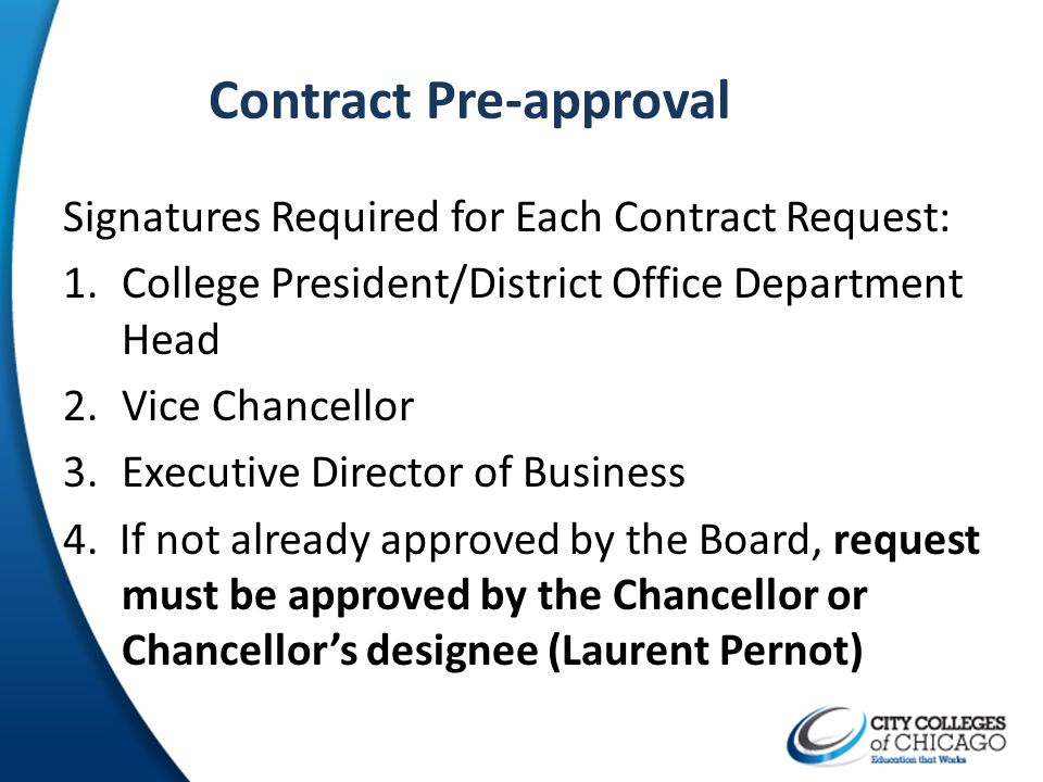 Contract Pre-approval