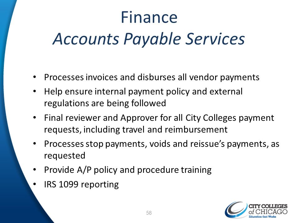 Finance Accounts Payable Services
