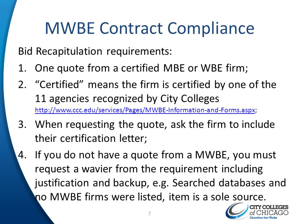 MWBE Contract Compliance