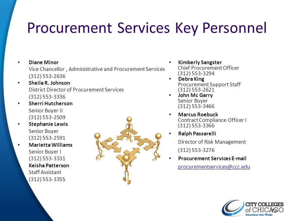 Procurement Services Key Personnel