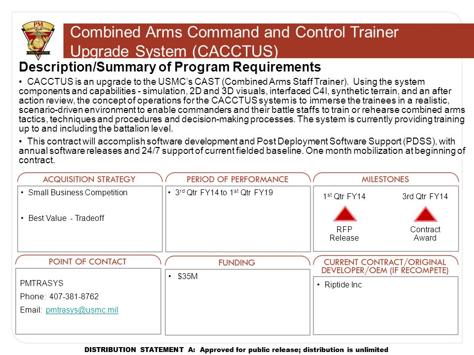 Combined Arms Command and Control Trainer Upgrade System (CACCTUS)