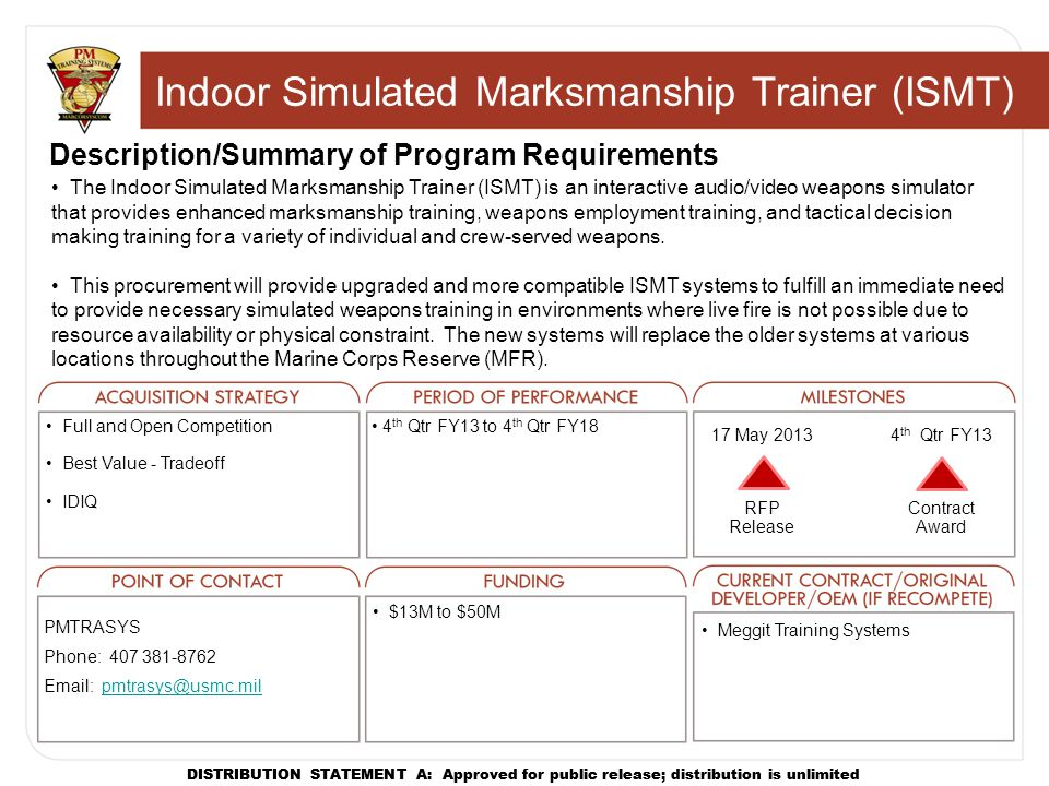 Indoor Simulated Marksmanship Trainer (ISMT)