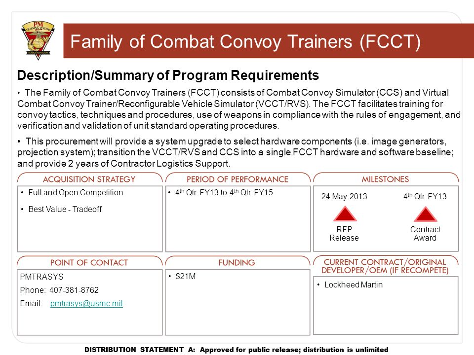 Family of Combat Convoy Trainers (FCCT)