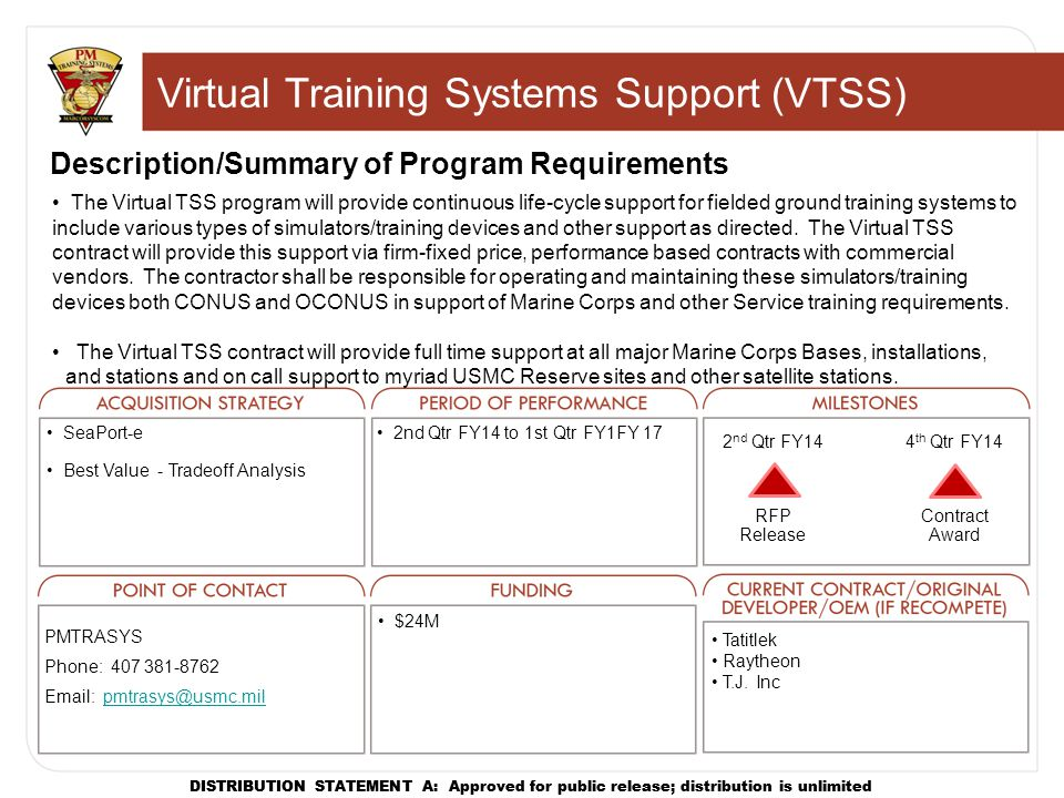 Virtual Training Systems Support (VTSS)
