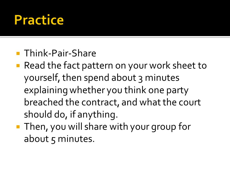 Practice Think-Pair-Share