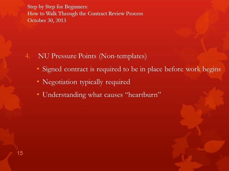 NU Pressure Points (Non-templates)
