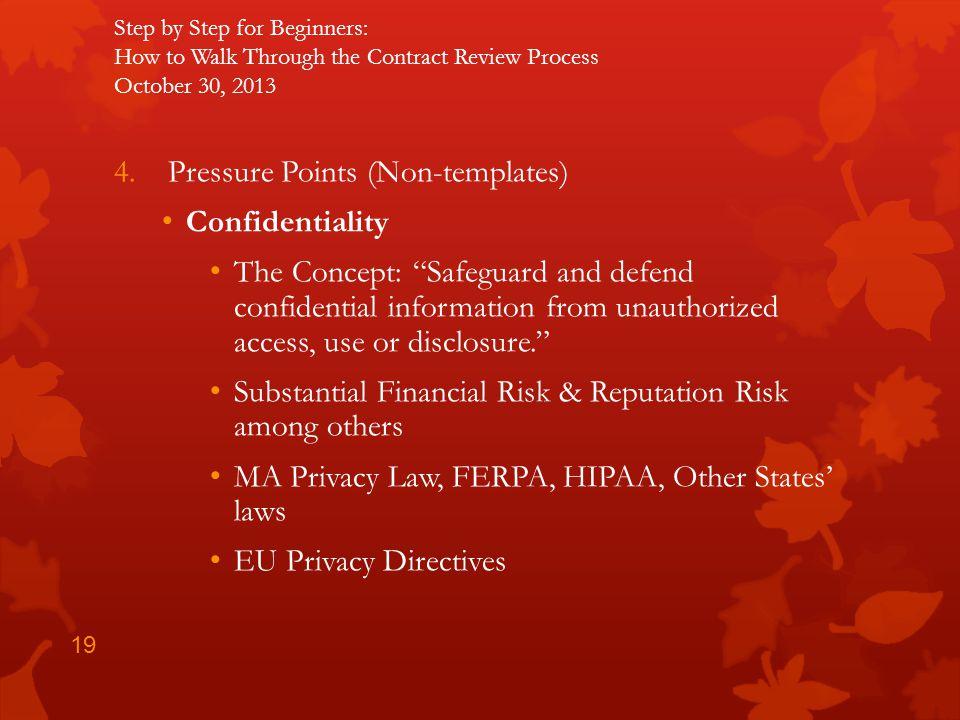 Pressure Points (Non-templates) Confidentiality
