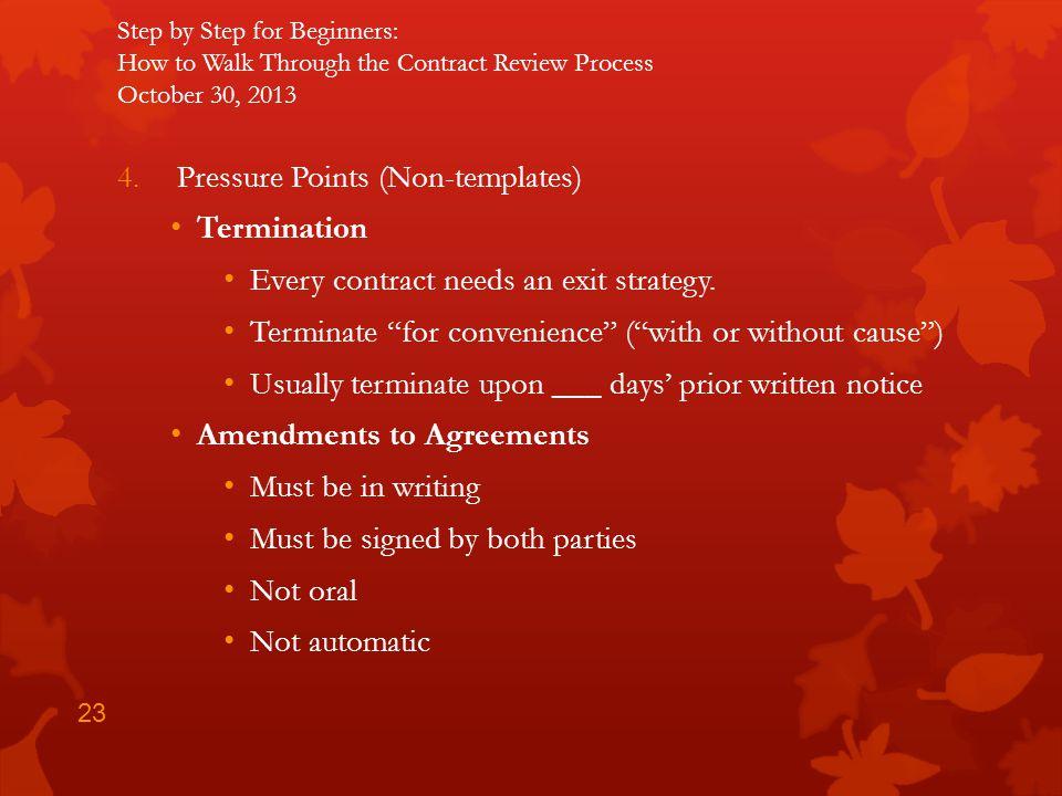 Pressure Points (Non-templates) Termination
