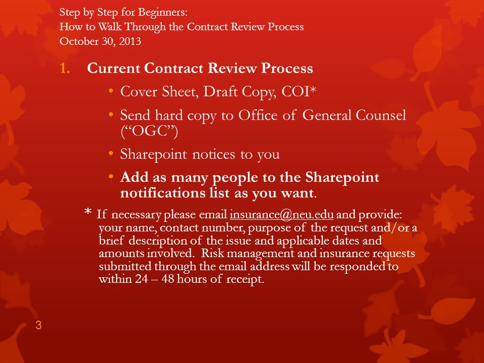 Current Contract Review Process Cover Sheet, Draft Copy, COI*