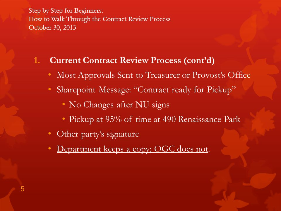 Current Contract Review Process (cont'd)