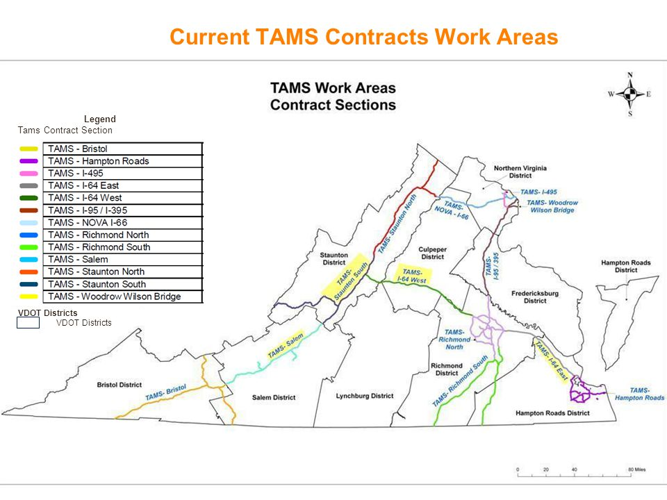 Current TAMS Contracts Work Areas