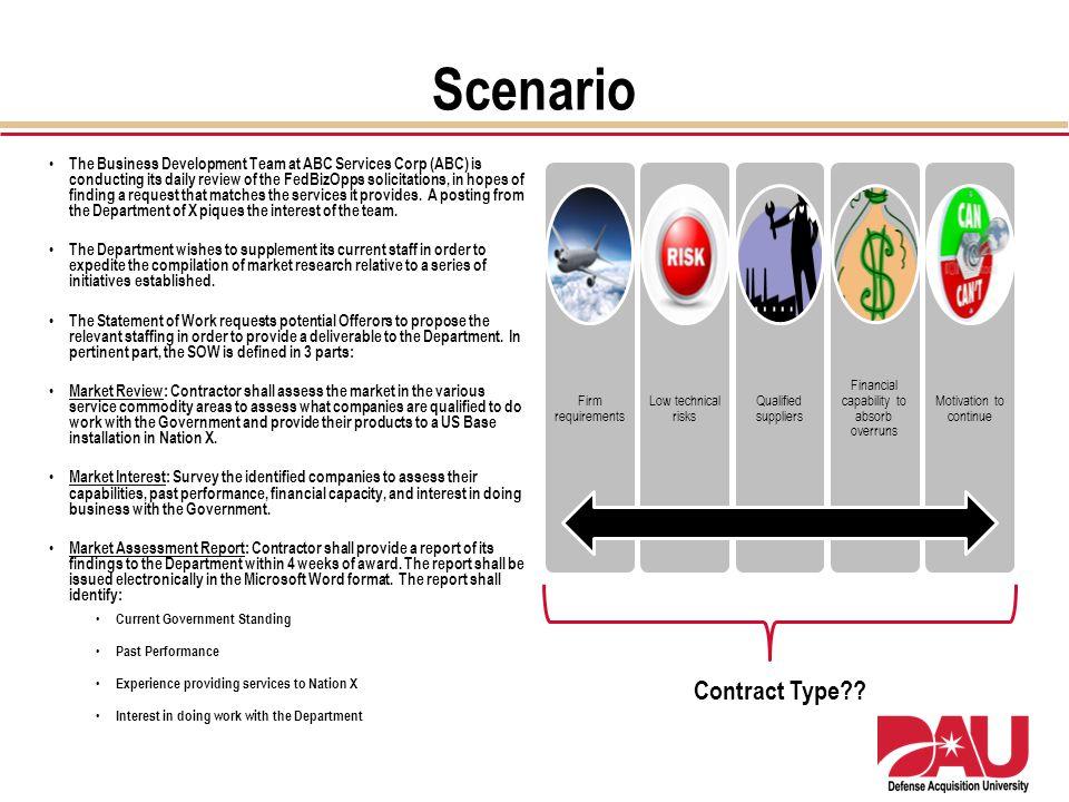 Scenario Contract Type