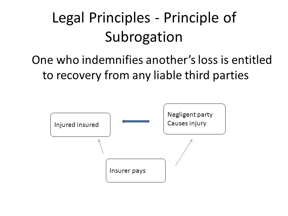 Legal Principles - Principle of Subrogation