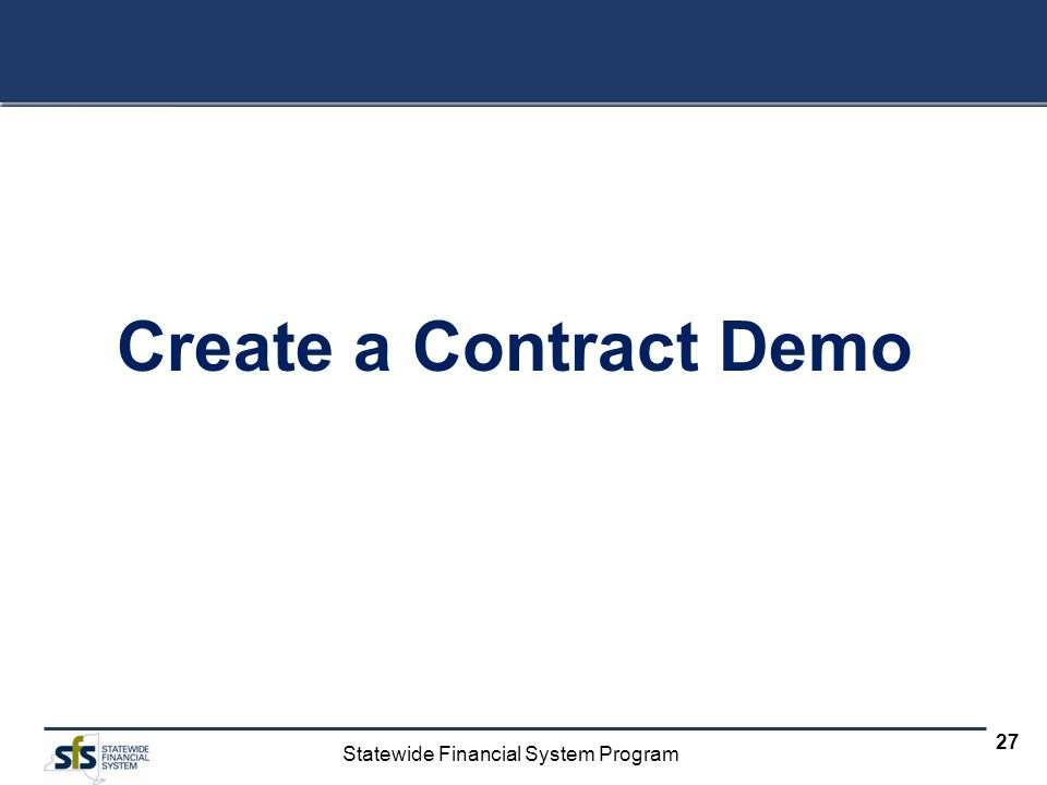 Create a Contract Demo