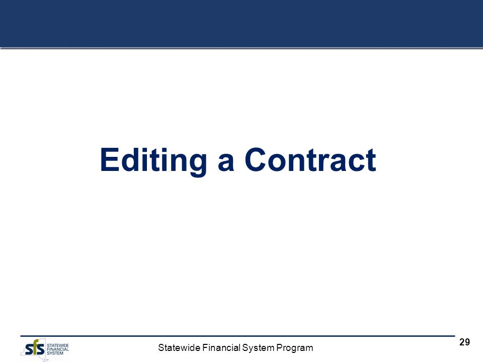 Editing a Contract
