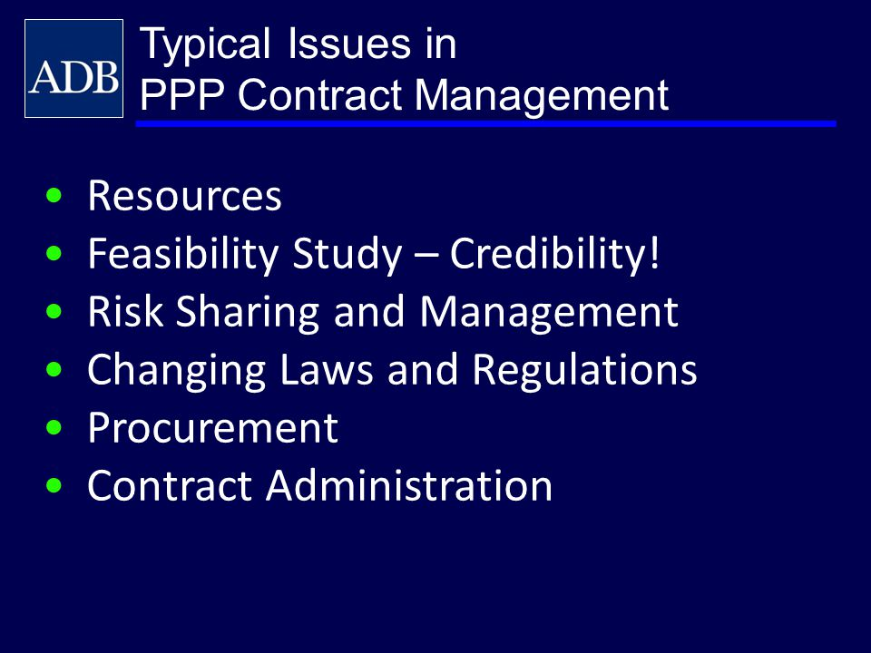 Feasibility Study – Credibility! Risk Sharing and Management