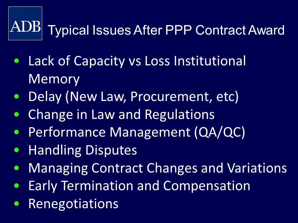 Lack of Capacity vs Loss Institutional Memory