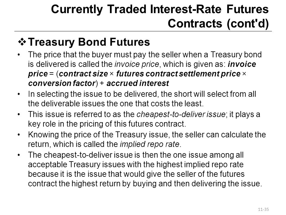 Currently Traded Interest-Rate Futures Contracts (cont d)