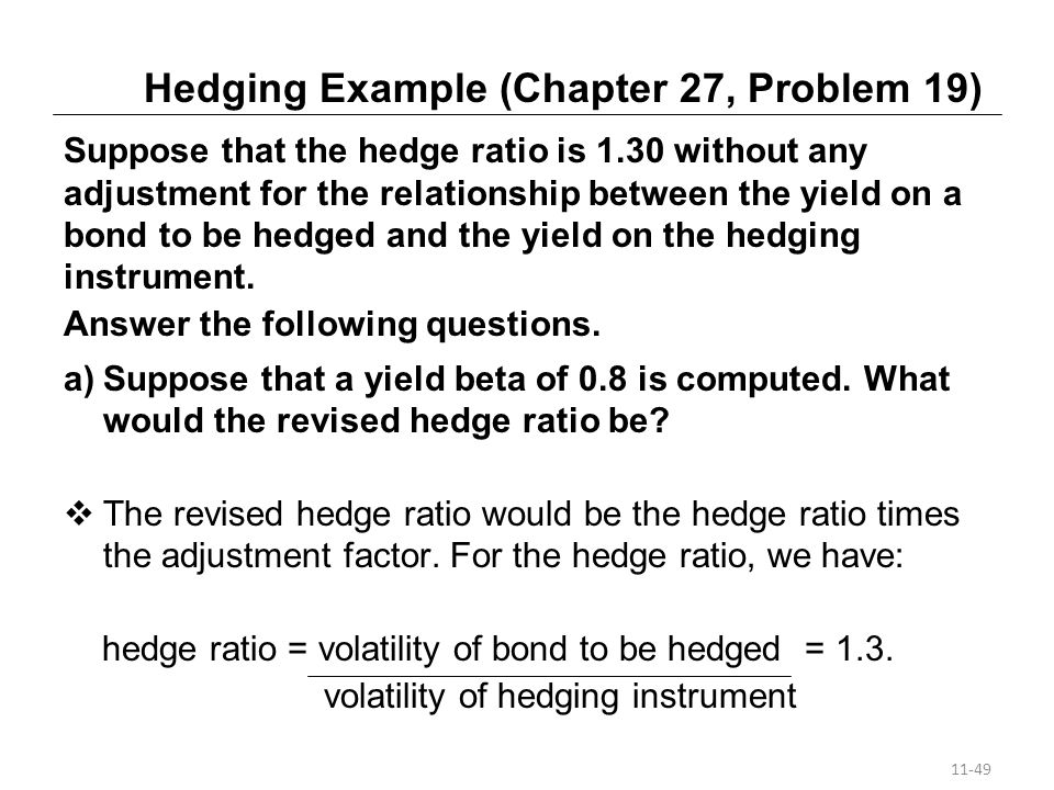 Hedging Example (Chapter 27, Problem 19)