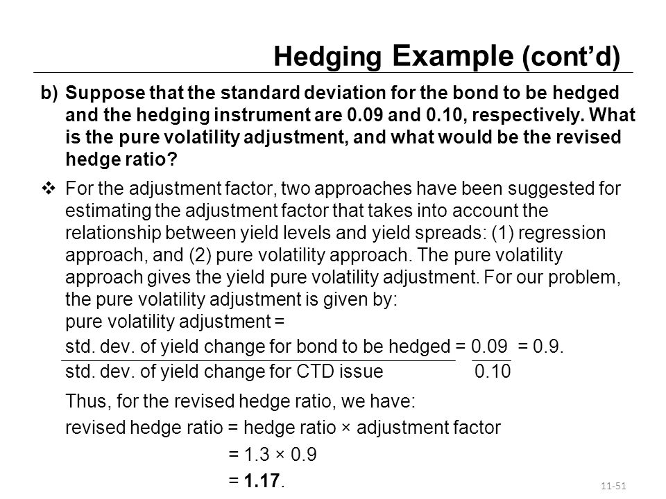 Hedging Example (cont'd)