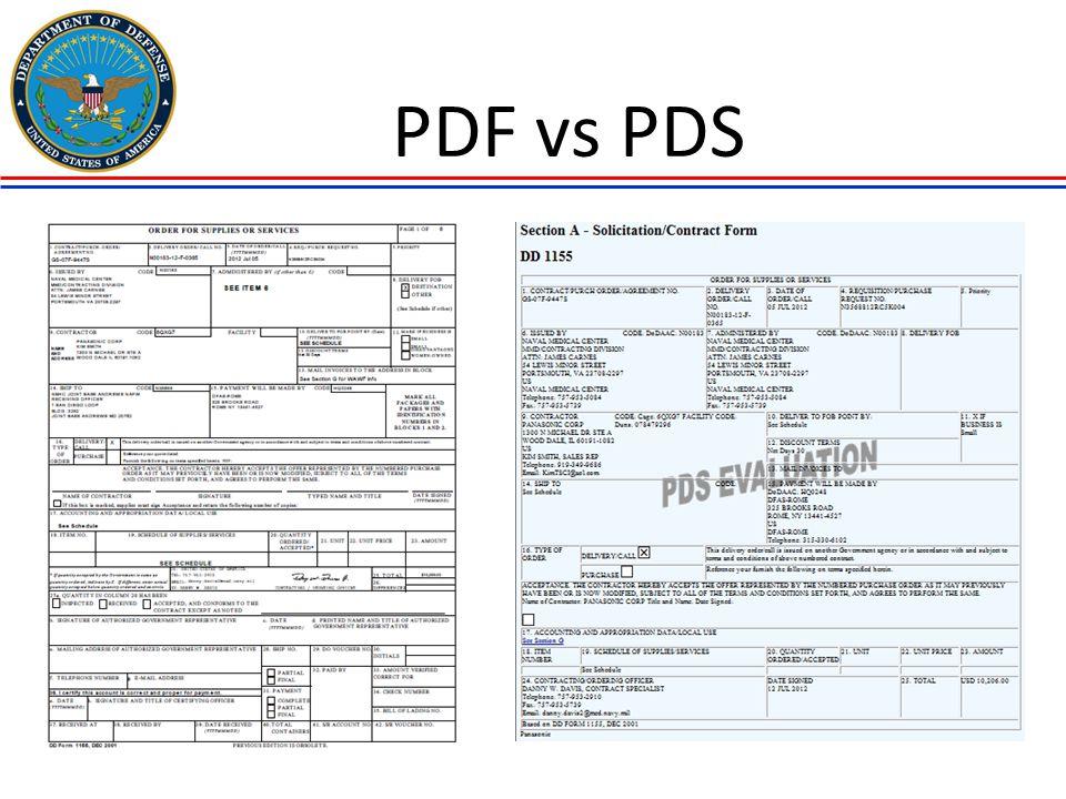 PDF vs PDS