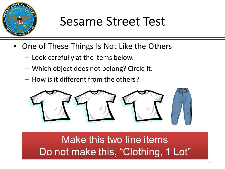Sesame Street Test Make this two line items