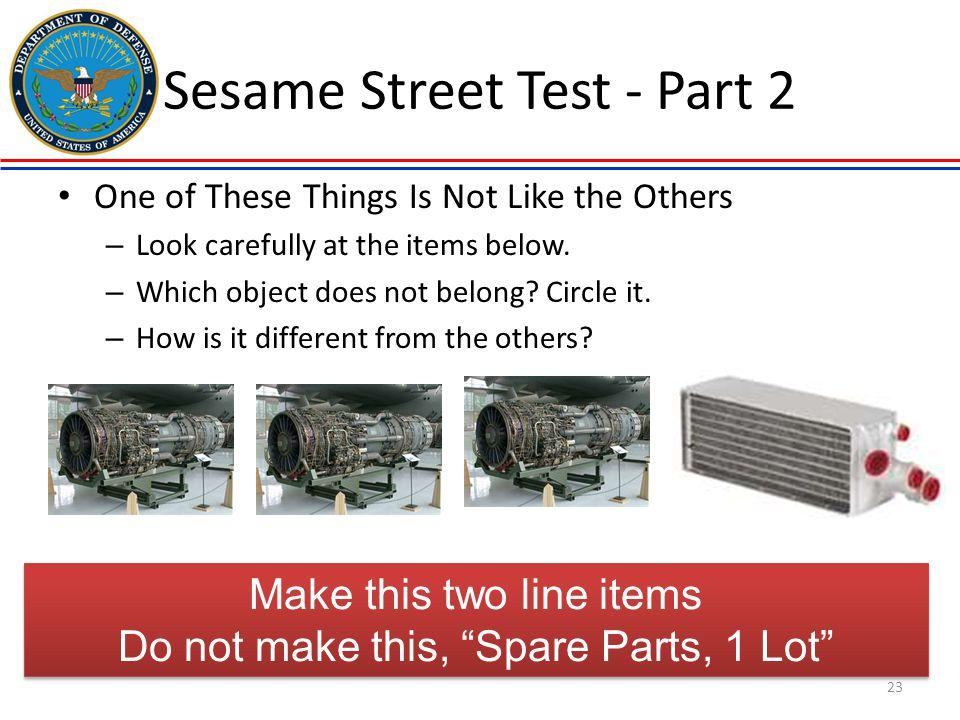 Sesame Street Test - Part 2