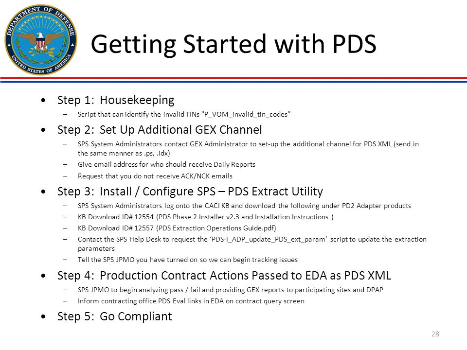Getting Started with PDS