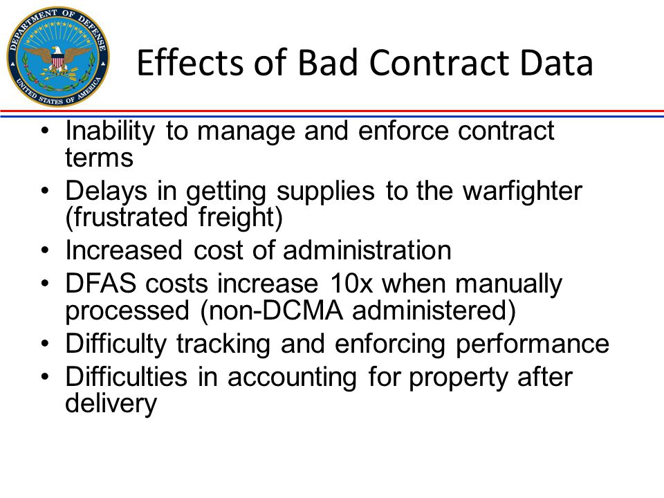 Effects of Bad Contract Data