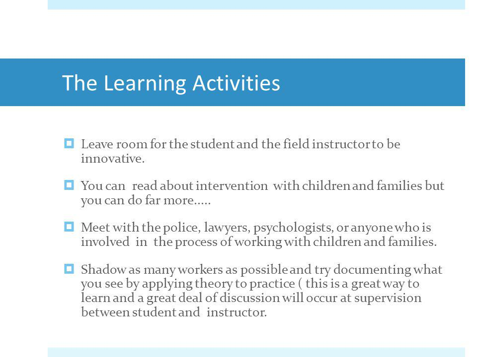 The Learning Activities
