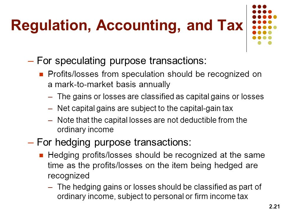 Regulation, Accounting, and Tax