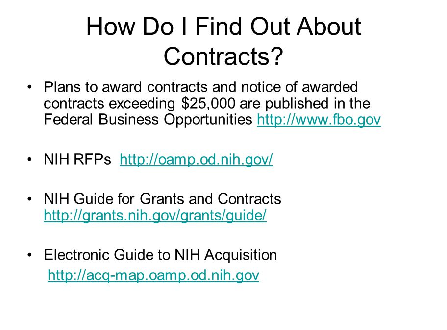 How Do I Find Out About Contracts