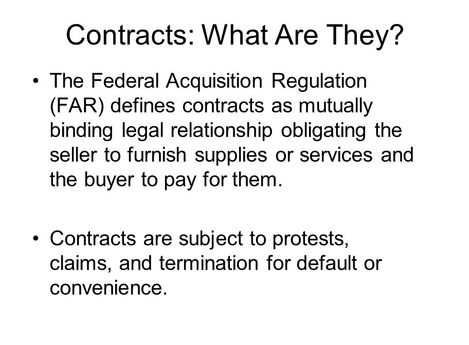 Contracts: What Are They