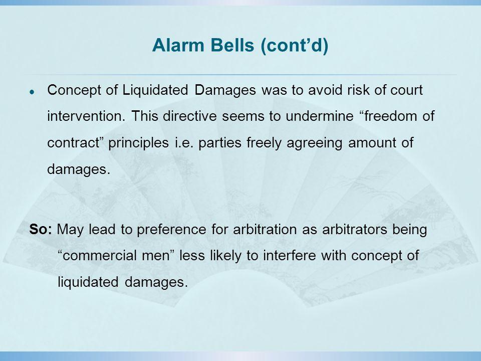 Alarm Bells (cont'd)