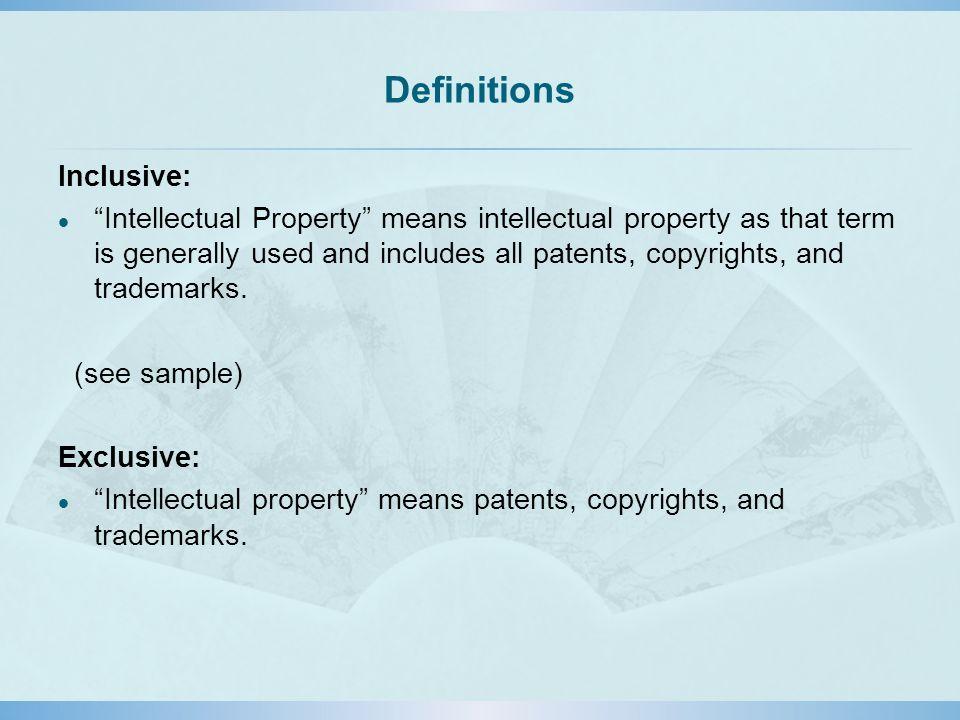 Definitions Inclusive: