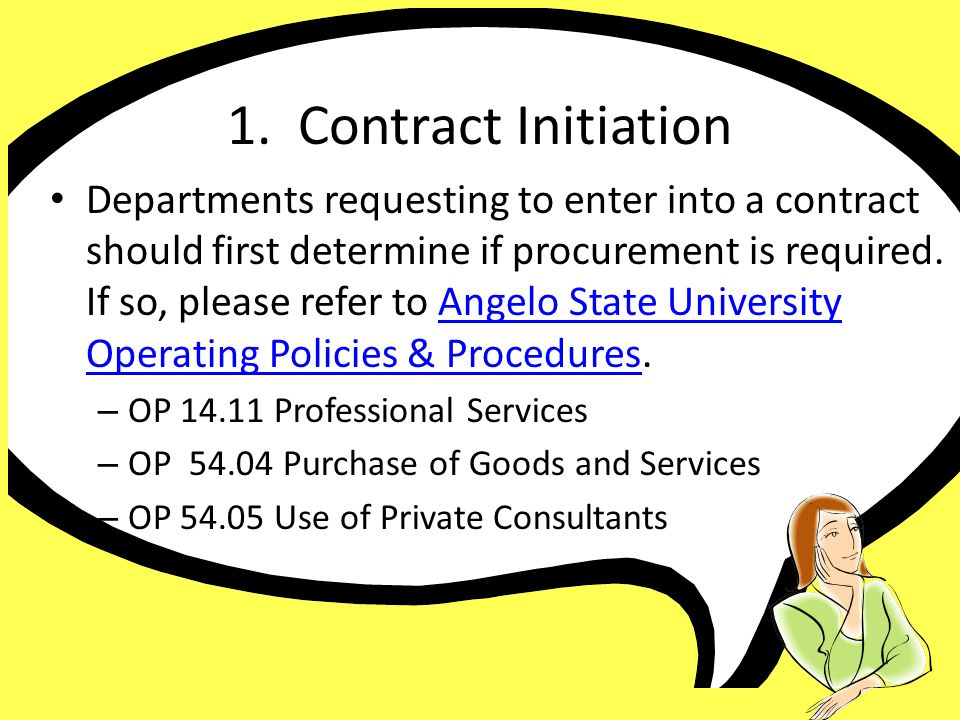 1. Contract Initiation