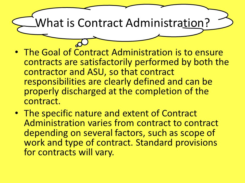 What is Contract Administration