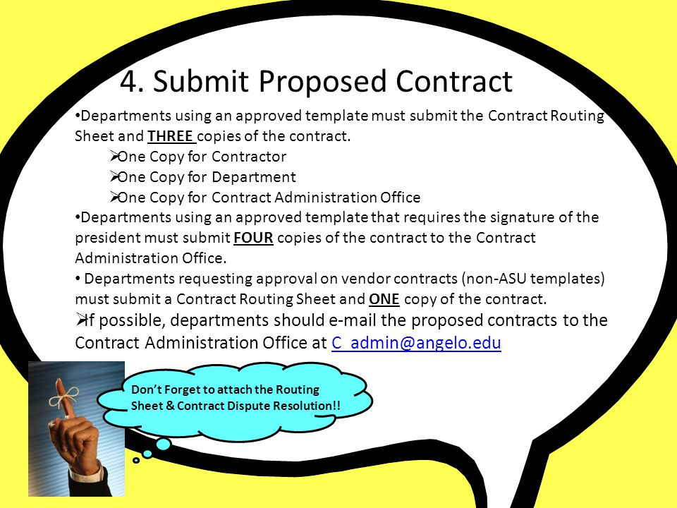 4. Submit Proposed Contract