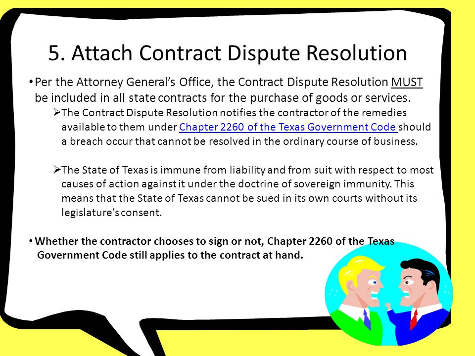 5. Attach Contract Dispute Resolution