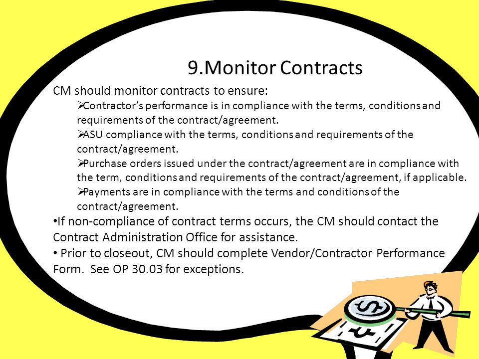 9. Monitor Contract 9.Monitor Contracts