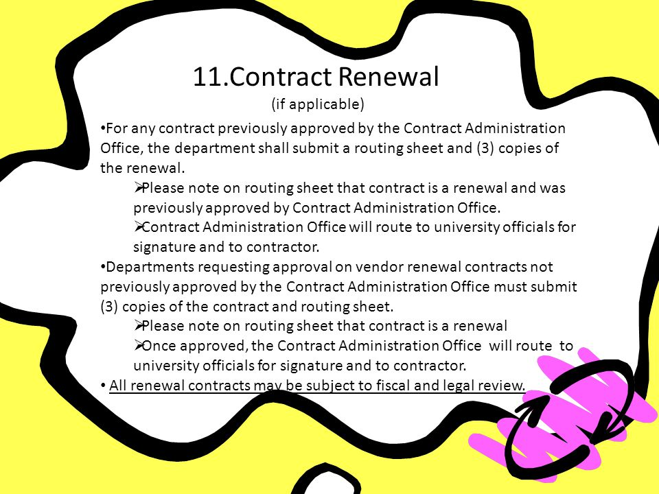 11. Contract Renewal (if applicable)