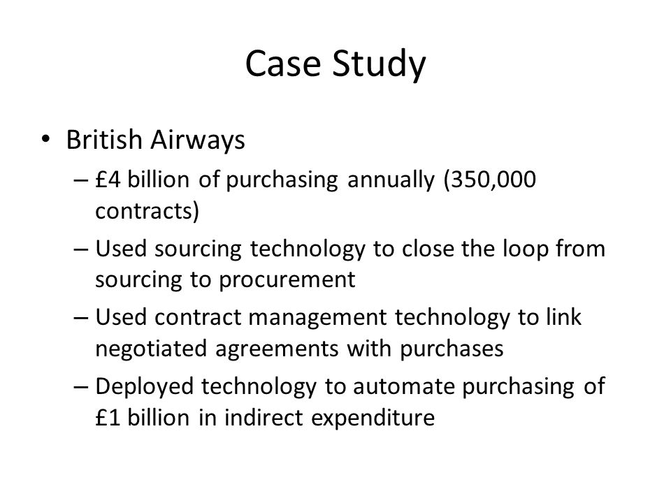 Case Study British Airways