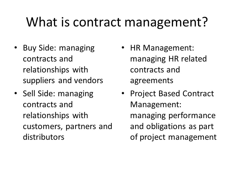 Improving Contract Management - Ppt Download