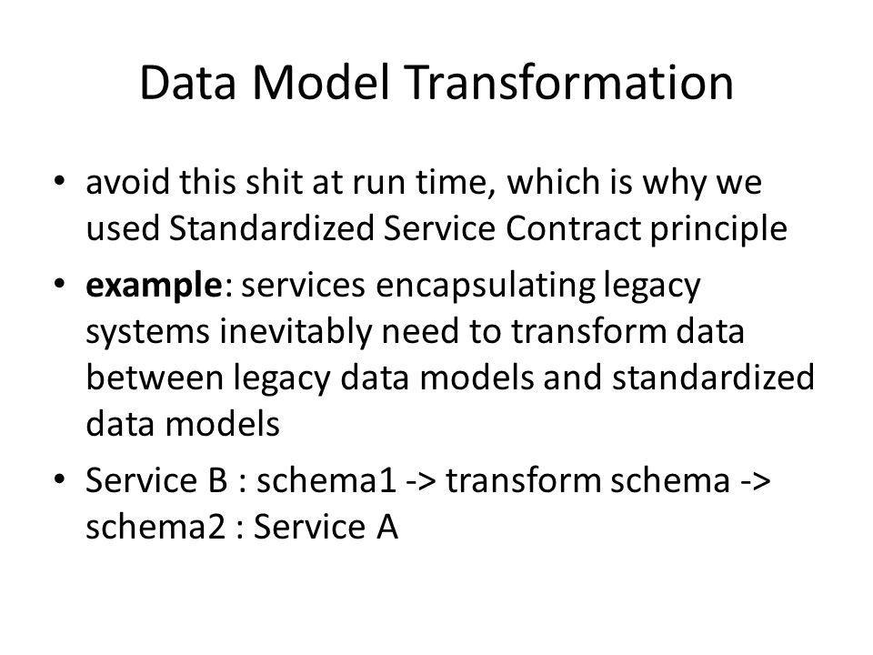 Data Model Transformation