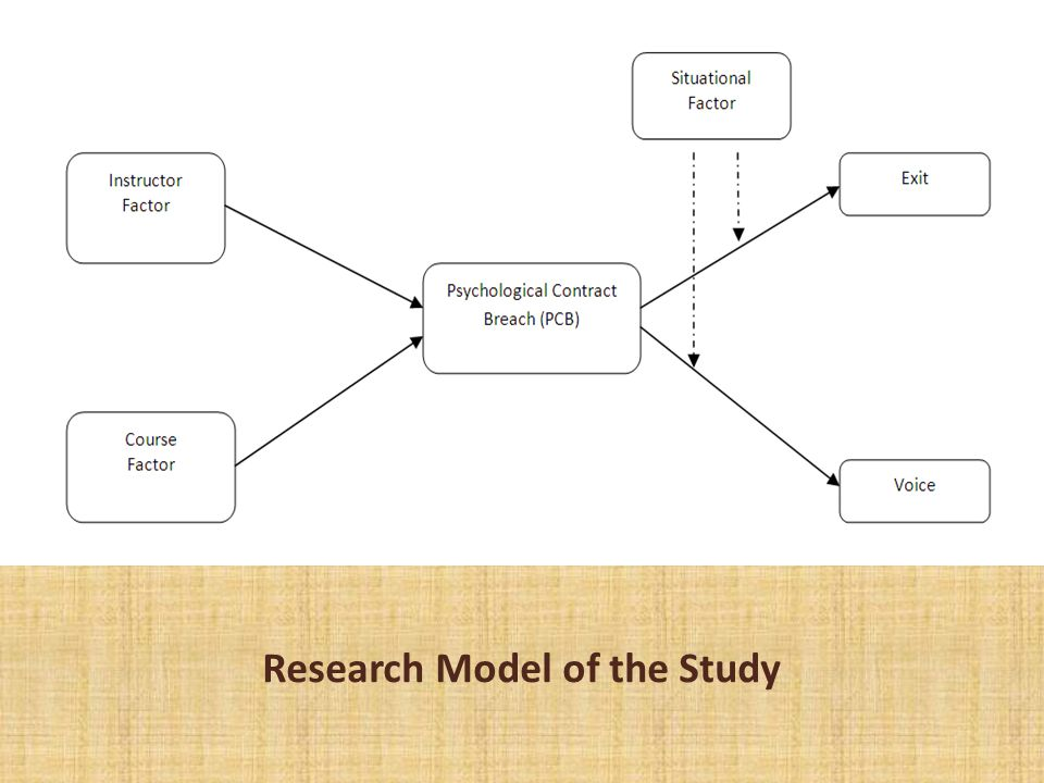 Research Model of the Study