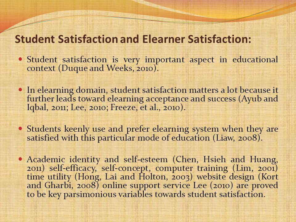 Student Satisfaction and Elearner Satisfaction: