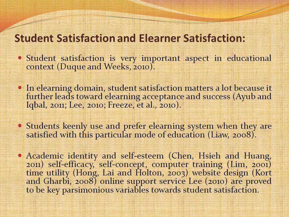 Student Satisfaction and Elearner Satisfaction: