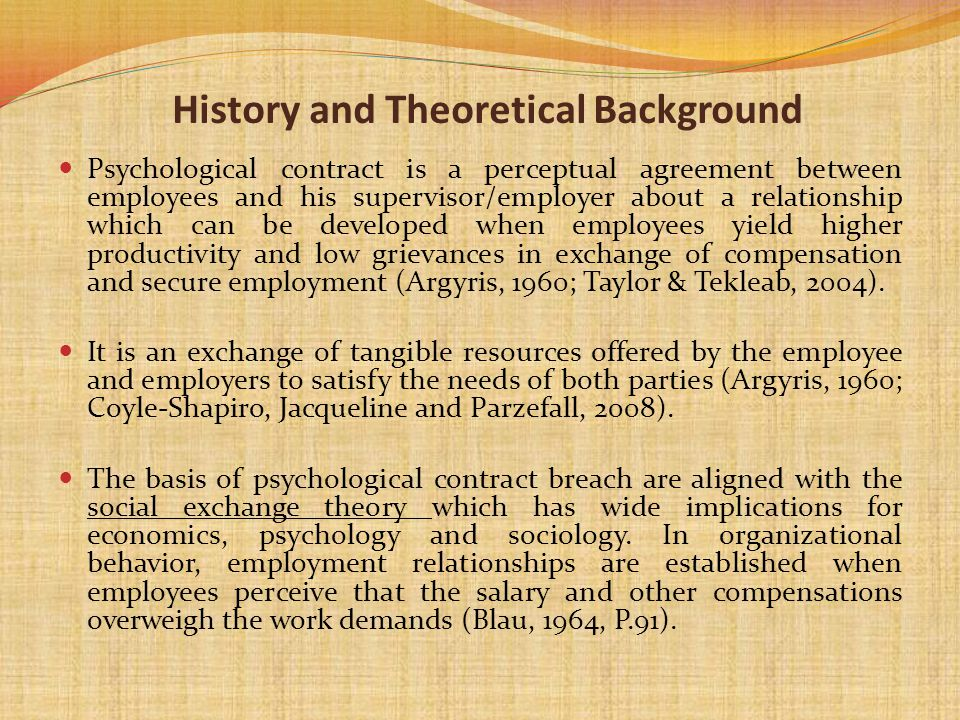 History and Theoretical Background
