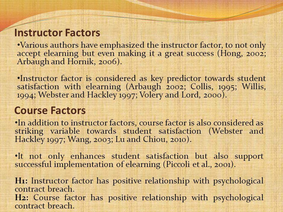 Instructor Factors Course Factors